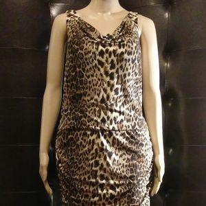Sleeveless Cheetah Print Jungle Dress